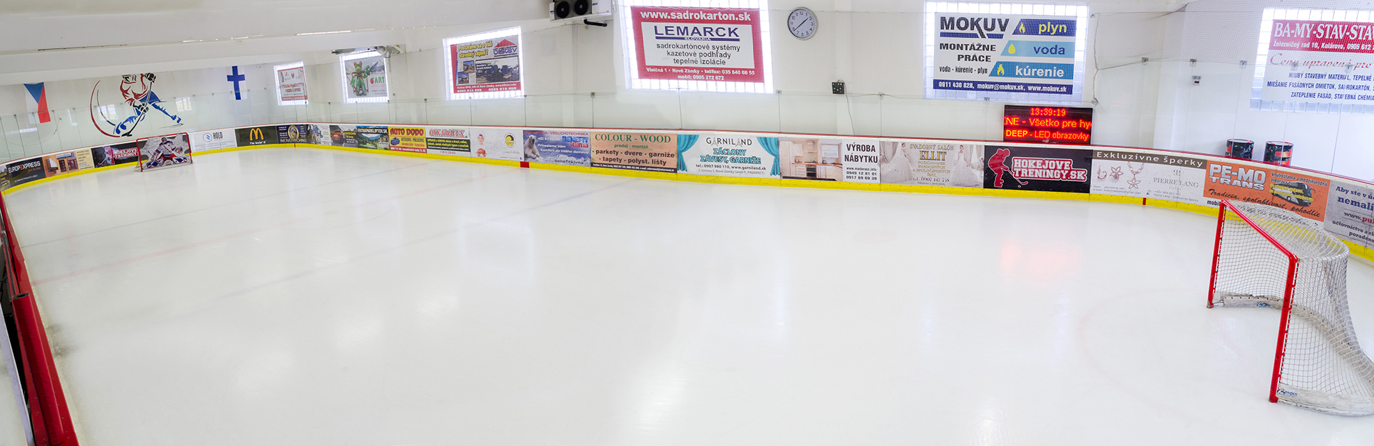 Celoročný hokejový štadión Aréna BAGO Ice Hockey Club v Nových Zámkoch
